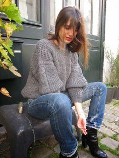 JEANNE DAMAS - love the sweater