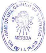 el camino de santiago por la vía de la plata: Los sellos del Camino de Santiago en la Vía de la Plata