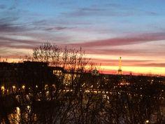 Sunset in Paris from dressing room Dressing Room, Vineyard, Celestial, Paris, Sunset, Outdoor, Outdoors, Walk In Closet, Montmartre Paris