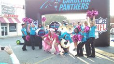 PurrCussion and TopCats energize walkers at the CLT Race for the Cure 'Panthers Energy Station'