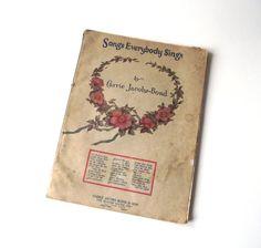 Carrie Jacobs Bond Music Book / Songs Everybody Sings / by gazaboo