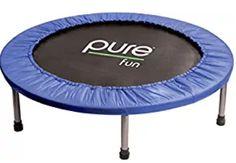 Pure Fun Mini Trampoline in Blue Trampoline Sport, Rebounder Trampoline, Trampoline Workout, Backyard Trampoline, Trampoline Reviews, Playroom Design, Kid Playroom, Kids Room, Teen Bedroom Designs