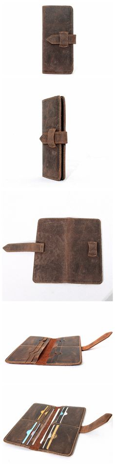 Hot Sale Long Wallet Leather Purse Card Holder