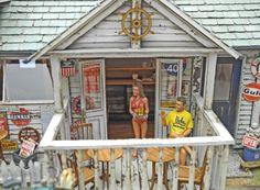"""Hang Loose"" 1/32 scale. By ""Doozy"" Yasu OKUGAWA. #diorama #Miniature_house"