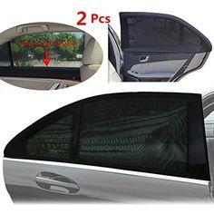 TFY Parasol universel Fenetre lateral de voiture pour vos enfants - Protège vos enfants du soleil - conception a couches unique - Visibilité maximale - compatibles avec la plupart des véhicules, Jeep, Ford, Chevrolet, Buick, Audi, BMW, Honda, Mazda, Nissan et autres - 2 pièces