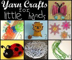 7 fun crafts for kids using yarn
