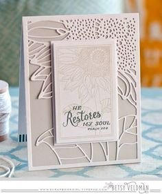 He Restores My Soul Card by Betsy Veldman for Papertrey Ink (November 2015)