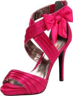 Hot Pink Glitter Platform High Heels   Pink high heels   Pinterest