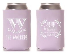 Wedding Koozies Monogrammed Personalized By Siphipay Custom Favours