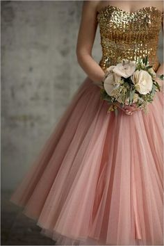 Tea Length Gold Sequins Pink Skirt High Quality Bridesmaid Dresses 2016 New Arrive Custom Made Bridesmaids Formal Dresses Wholesale Discount Online with $89.01/Piece on Rosemarybridaldress's Store | DHgate.com