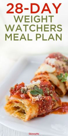 28 Day Weight Watchers Meal Plan