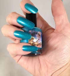 Comet Vomit Teal deGrasse Tyson nail polish by GemCityTiffany, $10.00