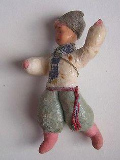 """Antique Russian Christmas Spun cotton ornament """"Cossack"""""""