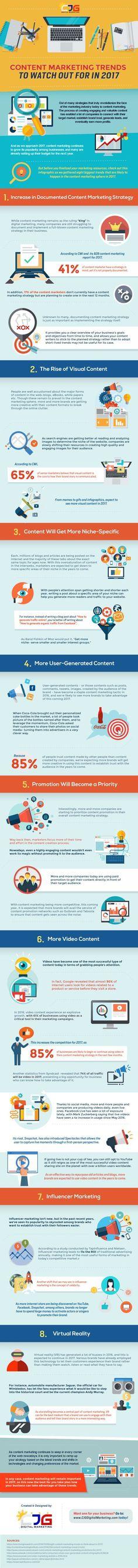 What's hot in the world of marketing? Check out this infographic that outlines Content Marketing Trends for 2017. Clique aqui http://www.estrategiadigital.pt/ferramentas-de-marketing-digital/ e confira agora mesmo as nossas recomendações de Ferramentas de Marketing Digital