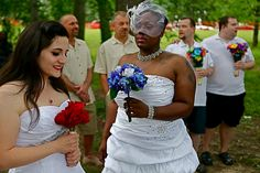 Evy, Love, Couples celebrate their love in a wedding ceremony in Baltimore after Maryland supports for marriage equality, a law that swept across the country.