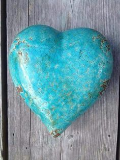 Turquoise heart stone