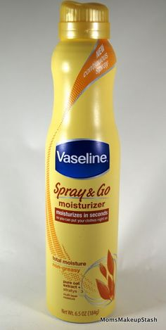 Vaseline Spray & Go Moisturizer. Simply love it. It's not greasy & it provides deep moisture that lasts all day!