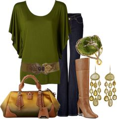 """fall green"" by lagu ❤ liked on Polyvore"