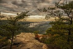 Long Point, New River Gorge, West Virginia - gorgeous scene. Go Camping, Outdoor Camping, New River Gorge, Closer To Nature, Take Me Home, West Virginia, Travel Usa, Places To Go, Scenery