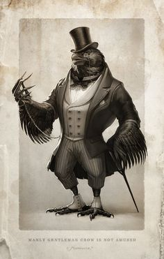 Manly gentleman Crow is not amused