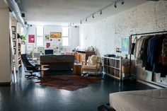 converted paint factory in the Bedford-Stuyvesant area of Brooklyn via remodelista