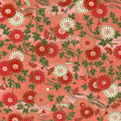 Japanese Chiyogami Paper - 9 x 12 Floral Pattern - Pink and Red Floral. £1.95, via Etsy.