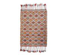 """Vintage Anatolian Kilim 4'x5'7"""" from Floorplan Rugs"""