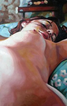 "Saatchi Online Artist thomas saliot; Painting, ""Blue bed"" #art"