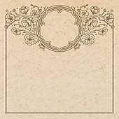 Clipart of Vintage old paper texture with vector traditional oriental vignette frame with cherry blossom flowers, hand drawn floral japanese ornament with sakura tree, copy space emblem k22417825 - Search Clip Art, Illustration Murals, Drawings and Vector EPS Graphics Images - k22417825.eps