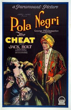 The Cheat Pola Negri  Jack Holt Movie Poster