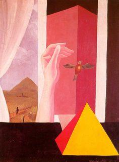 René Magritte - The Window, 1925