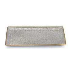 Panthera rectangle tray gold edge