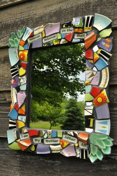 Dish disasters turned good: Mosaic art pieces - Piece by Piece Design