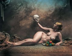 Photo by Jan Saudek: The Slavic Girl with Her Father (1998) I like this because it's weird.