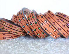 Boho Kids Leather Bracelet Stay Wild My Child Baby Leather
