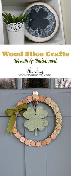 These wood slice crafts are easy to change for different holidays and seasons.  Click to check out the step by step tutorial.