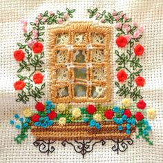 Cross-stitch embroidery made by @melonibarbara3 *** Le Maddine & Maddy https://www.facebook.com/groups/531953423561246/ *** #madeinfacebook #lemaddine #handmade #handcrafted #instagram #instapic #instagood #picoftheday #instacool #cool #cute #embroidery #sewing #crossstitch #frenchstitch #hardanger #window #flowers #decor #decoration #ilgomitolodibirba