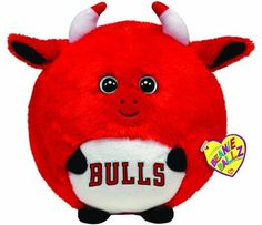 4f10c953893 Ty Beanie Ballz Chicago Bulls - NBA Ballz - Large  Show your team spirit  with a Chicago Bulls Beanie by Ty! Features    SIZE  Medium   8 x 8 x 8  inches ...