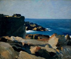 """Square Rock, Ogunquit,"" Edward Hopper, 1914. oil on canvas, 24 1/4 x 29"", Whitney Museum of American Art."