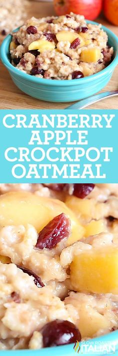 Cranberry Apple Crockpot Oatmeal is a simple recipe that is bursting with flavor. Sweet and creamy oatmeal speckled with chunks of apple and cranberry is a new favorite around here. Prep it the night before, then just dump it all in your crockpot and let it cook while you get ready for the day or cook it overnight if you prefer. It is absolutely amazing and will surely be a family favorite.