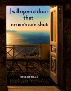 When God opens a door He puts a door jam in place to hold it open