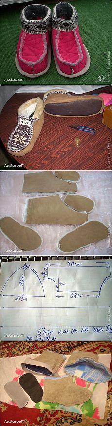 Taller de confección: coser zapatillas y Sledkov.