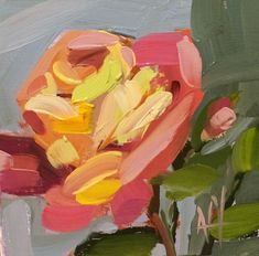 Garden Rose no. 25 Floral Art Print by Angela Moulton 6 x 6 inch