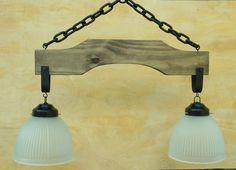como hacer lampara de madera rustica - Buscar con Google