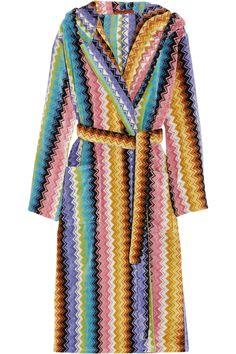 Missoni Home|Ralph zigzag cotton-terry robe|NET-A-PORTER.COM