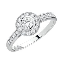 Engagement Ring with 1/2 Carat TW of Diamonds in 18kt White Gold.  I tried this ring on at Michael Hill -- it's Beautiful!