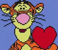 Tigger with a heart (Square)