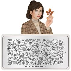 MoYou London- Fall in Love- 12 – Beautometry Stamping Nail Polish, Nail Stamping Plates, Thanksgiving Nail Art, Stainless Steel Nails, Image Plate, Fallen London, Forest Animals, Give Thanks