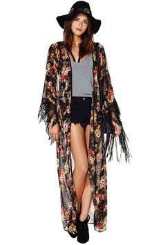 Reverse Peek A Boo Kimono