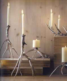 Roost Polished Antler Candlestick Holder